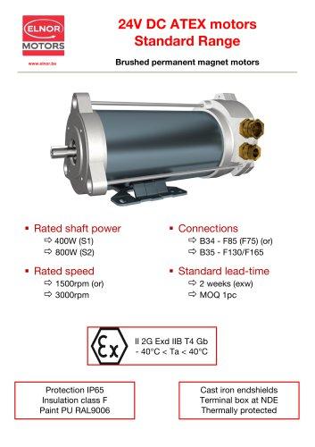 24VDC ATEX motors