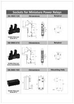 Sockets for Miniature Power Relays - 1