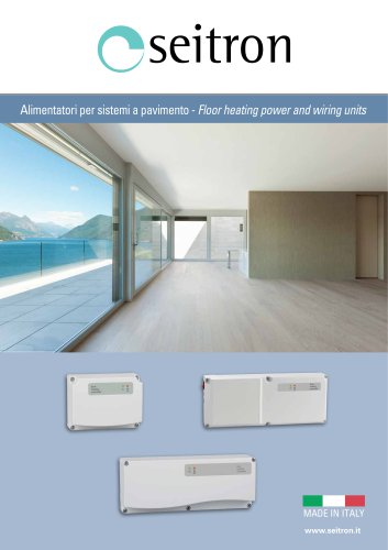 floor heating power and wiring units