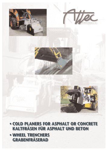 COLD PLANERS FOR ASPHALT OR CONCRETE / WHEEL TRENCHERS