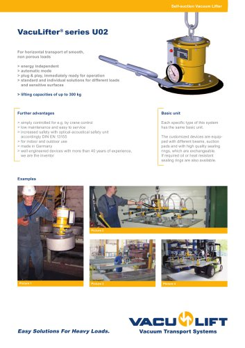 the self-suction VACU-LIFTER U02