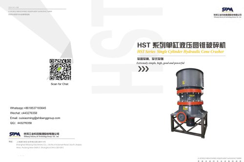 SBM HST Cone Crusher for Stone and Ore