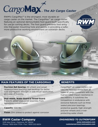 Cargomax™ Casters