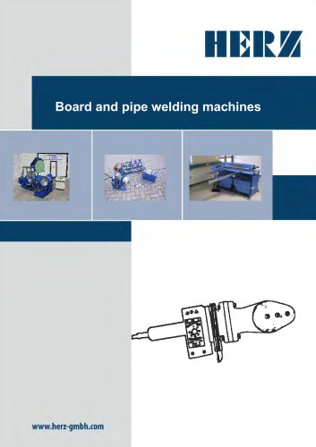 Board and pipe welding machines