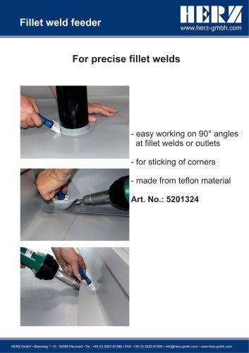 Fillet weld feeder