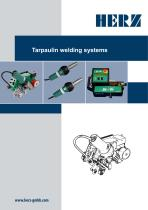 Tarpaulin welding systems