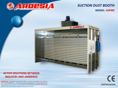 Suction dust booths - ASPIRE
