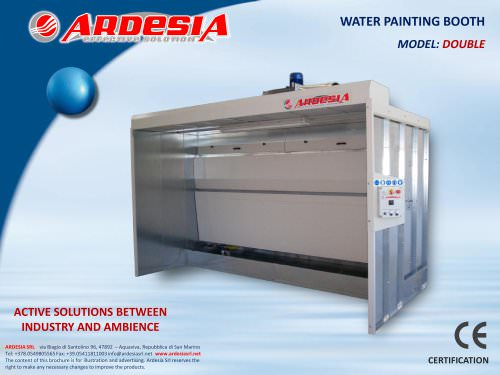 Water painting booths - DOUBLE