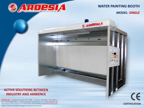Water painting booths - SINGLE