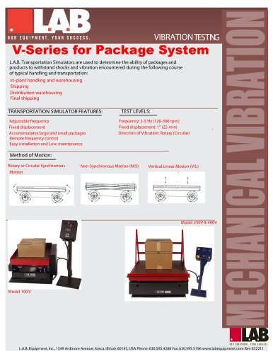 V - Series? Transportation Simulators