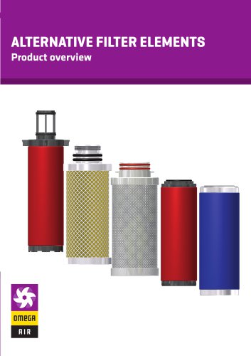 ALTERNATIVE FILTER ELEMENTS - Product overview