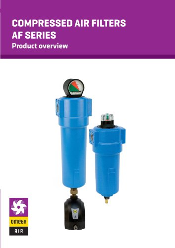 COMPRESSED AIR FILTERS AF SERIES - Product overview