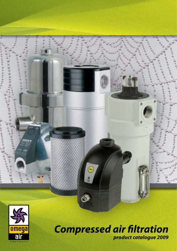 Compressed air filtration - Product catalogue 2009
