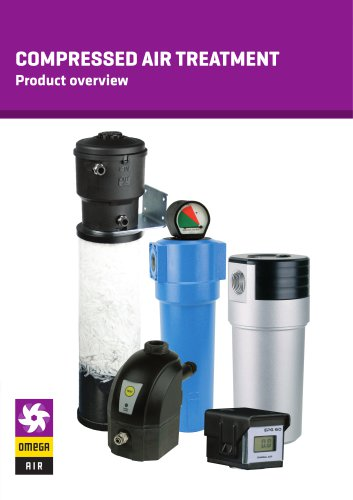 COMPRESSED AIR TREATMENT - Product overview