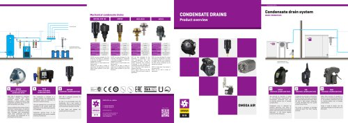 Condensate drains - product overview