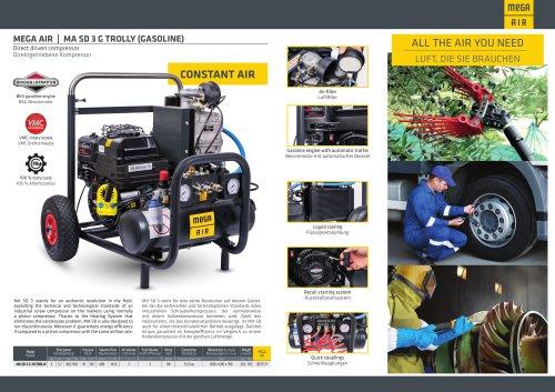 Direct driven compressor MA SD 3 G TROLLY (ELECTRIC or GASOLINE version)