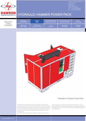 Hydraulic hammer power pack