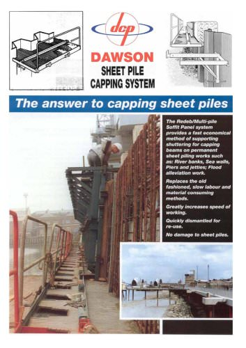 Sheet pile capping system