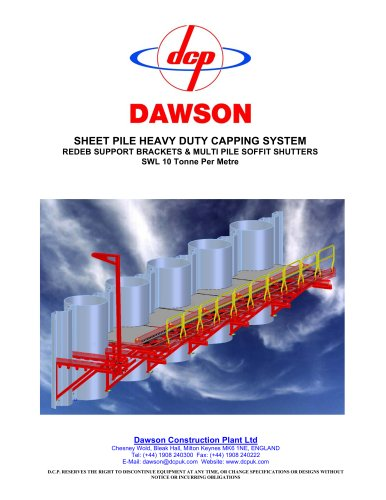 Sheet pile heavy duty capping system