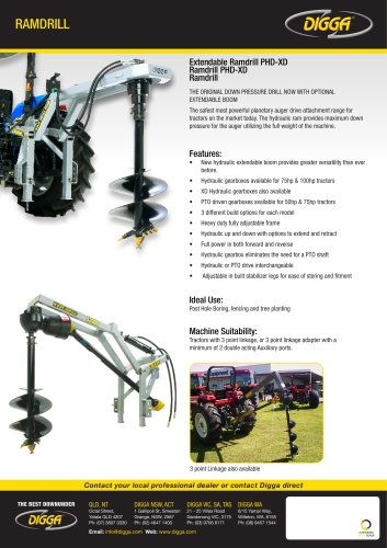 Extendable Ramdrill PHD-XD, Ramdrill PHD-XD, Ramdrill