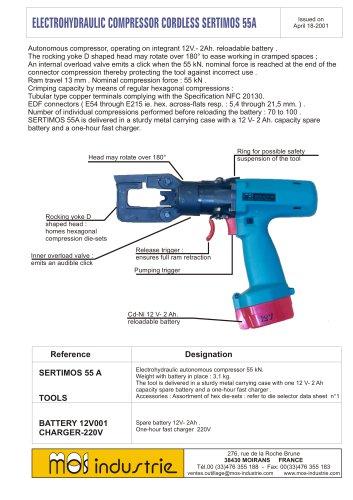 Electrohydraulic compressor cordless - SERTIMOS 55 A