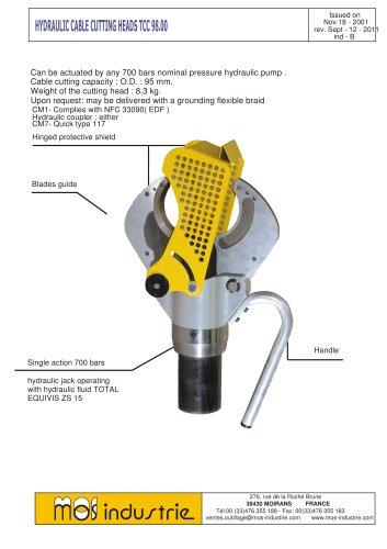 Hydraulic cable cutting heads TCC 98