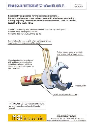 Hydraulic cable cutting heads TCC100