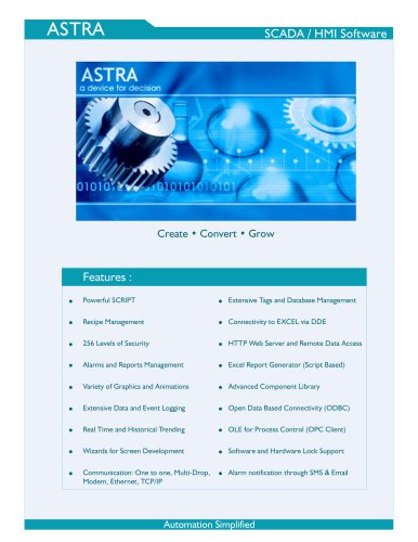 ASTRA HMI / SCADA Software - Renu Electronics Pvt  Ltd