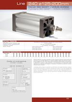 LINE 240 - ISO 6431 pneumatic cylinders Ø125÷200 mm
