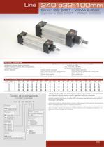 LINE 240 - ISO 6431 pneumatic cylinders Ø32÷100 mm