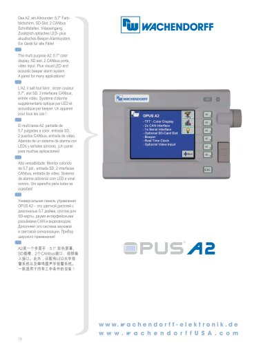 OPUS A2 Technical Data