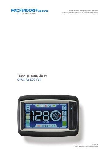 OPUS A3e Technical Data