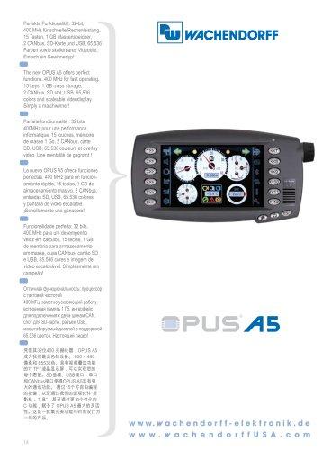 OPUS A5 Technical Data