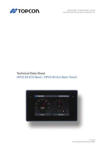 OPUS B3 ECO Basic / OPUS B3 Eco Basic Touch