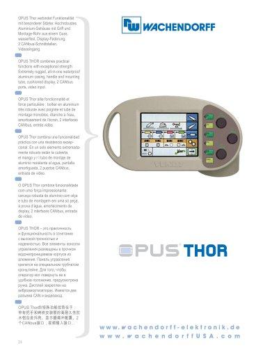 OPUS Thor Technical Data