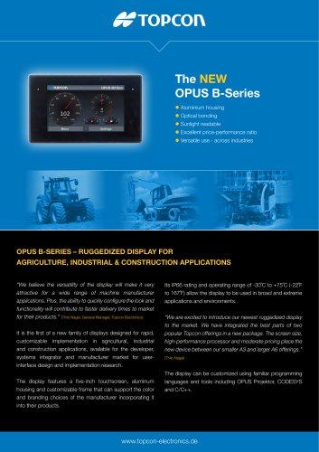 The NEW OPUS B-Series