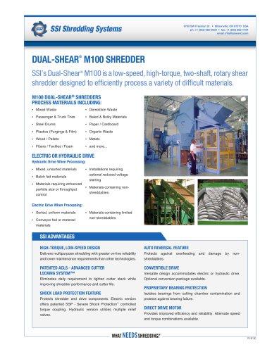Dual-Shear® M100 Two-Shaft Shredder