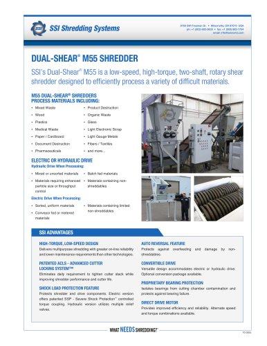 Dual-Shear® M55 Two-Shaft Shredder
