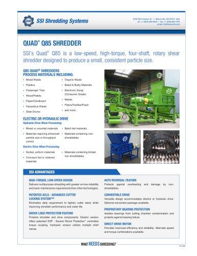 Quad® Q85 Four-Shaft Shredder