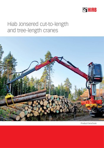 Hiab Jonsered cut-to-length and tree-length cranes
