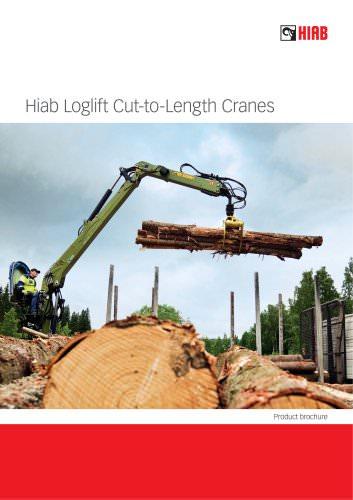 Hiab Loglift cut-to-length cranes