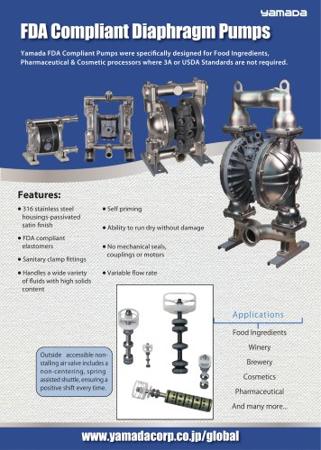 FDA Compliant Diaphragm Pumps