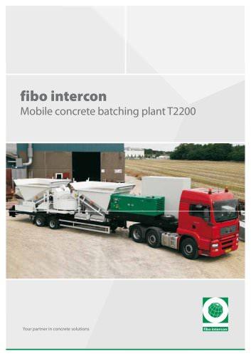 Custom made Mobile concrete batching plant T2200