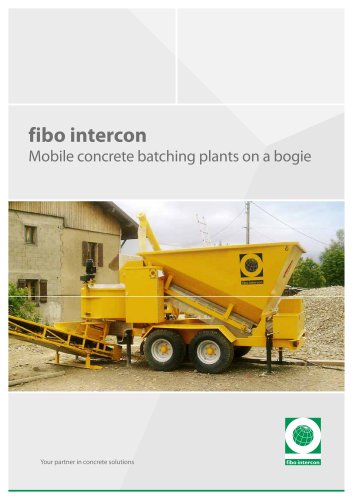 Mobile batching plants on a bogie  B1200, B1800 and B2200