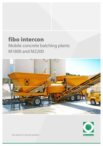 Mobile concrete batching plants M1800 and M2200