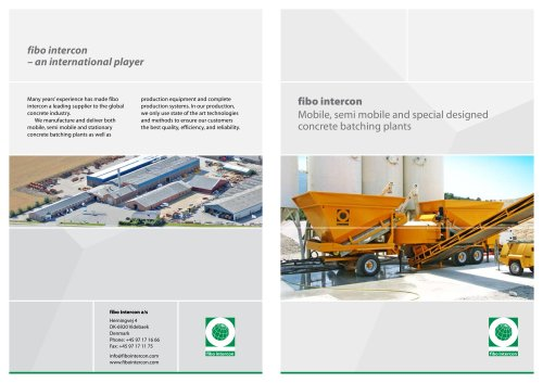 Mobile, semi mobile and special designed concrete batching plants