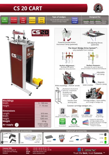 CS 20 CART : Pneumatic underpinner with powerful clamps