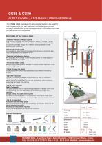 CS88   & CS89 - FOOT or AIR OPERATED UNDERPINNERS (v-nailers) - 1