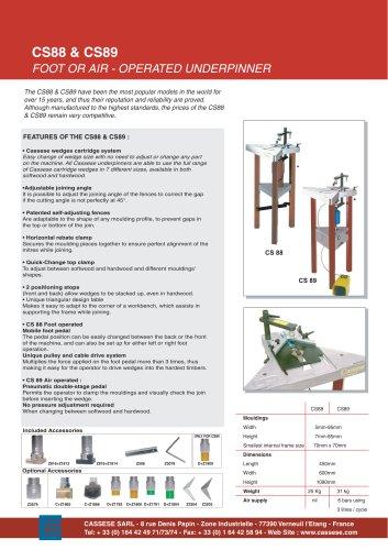 CS88   & CS89 - FOOT or AIR OPERATED UNDERPINNERS (v-nailers)
