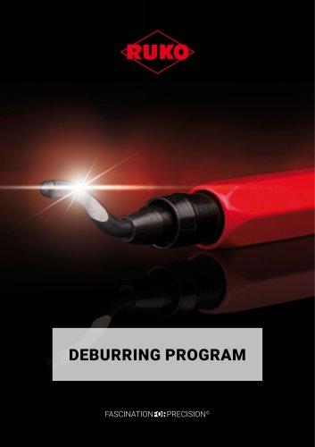Deburring program